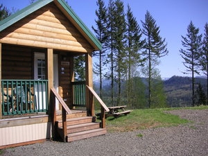 One of 3 cabins at the Hilltop House