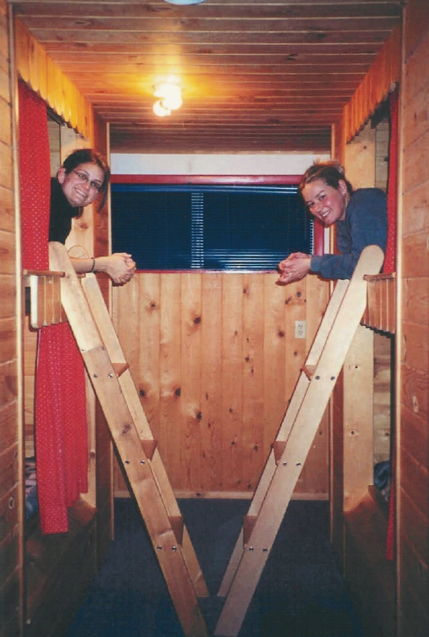 Built in Swedish-style beds in the Sleeping House