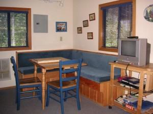 Dalarna cabin dining nook